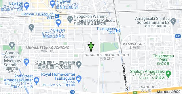 Map of 〒661-0012 Hyōgo-ken, Amagasaki-shi, Minamitsukaguchichō, 3 Chome−29−13